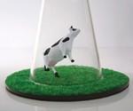 Alien Abduction Lamp - Closeup of Cow
