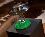 Alien Abduction Lamp - Unlit on Table