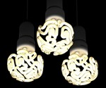Brain Light Bulbs Illuminated