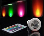 Color-Changing LED Light Bulb with Remote
