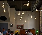 Designer Low Energy Light Bulbs In Restaurant