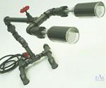 Plumbing Pipe Desk Lamp - 3/4 View