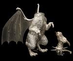 Sterling Silver Dragon Lamp