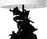 Childhood Toy Lamp in Black Closeup