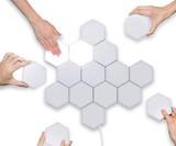 Modular, Touch-Sensitive Hexagonal Wall Lights
