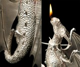 Sterling Silver Dragon Lamp