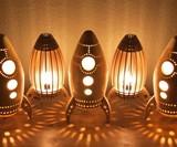 Wooden Rocket Night Light
