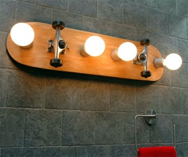 Skateboard Bathroom Vanity Light