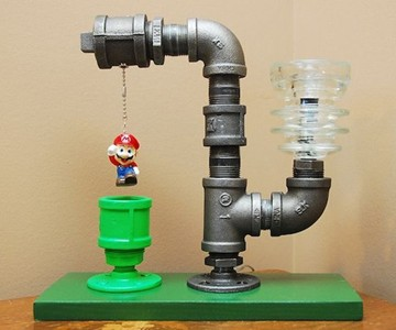 Mario Industrial Pipe Lamp