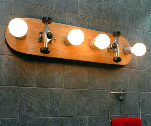 Skateboard Bathroom Vanity Light ...