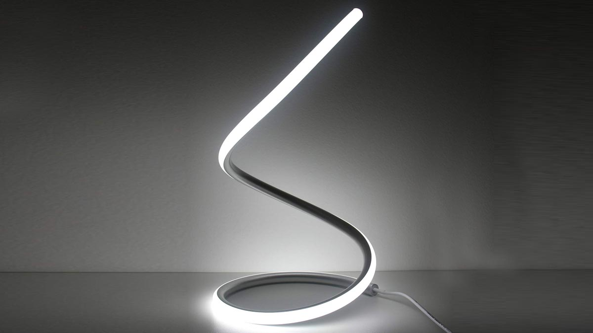 Spiral Led Table Lamp Dudeiwantthat Com