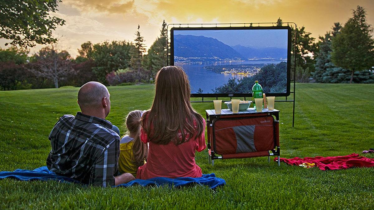 120 portable outdoor movie screen. Black Bedroom Furniture Sets. Home Design Ideas