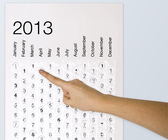 Bubble Wrap Calendar 2013