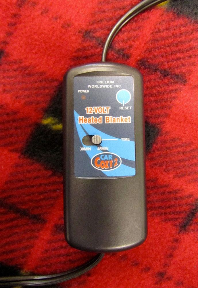 Electric Heated Fleece Travel Blanket Dudeiwantthat Com
