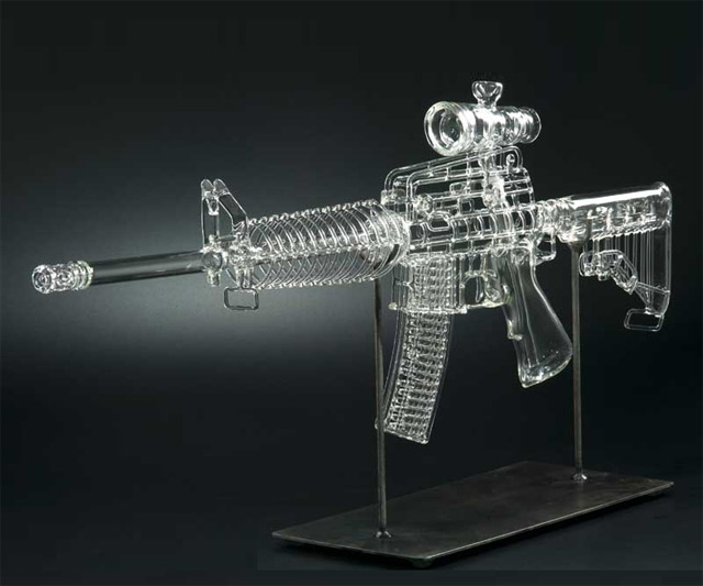 Glass AR-15 Gun Pipe