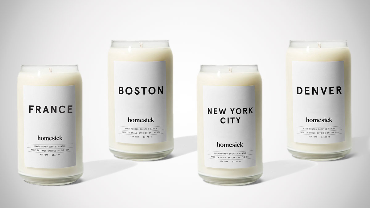 Homesick Candles - Scented to Smell Like Home