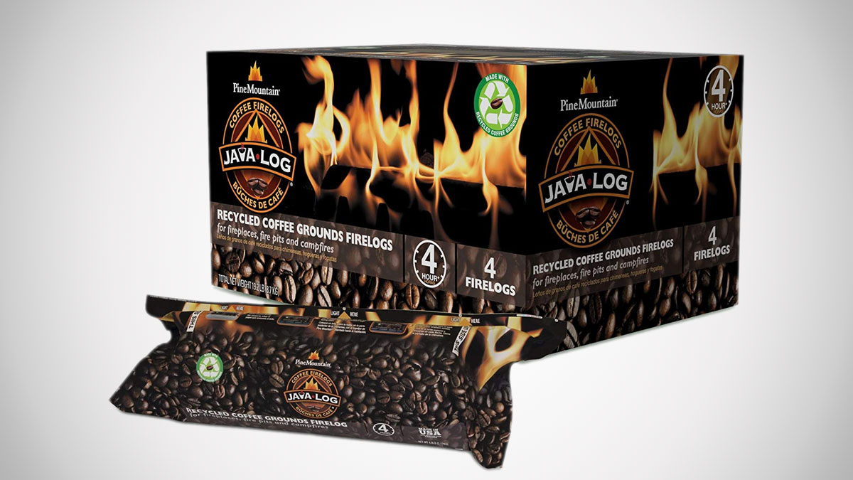 Java Log - Recycled Coffee Grounds Fire Logs