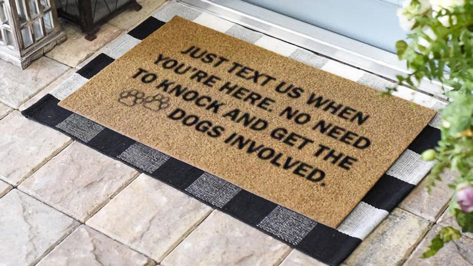 Just Text Us Doormat