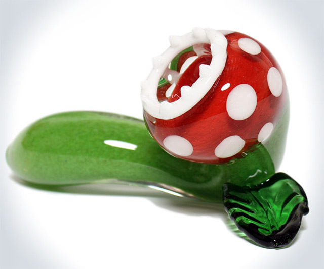 Mario Piranha Plant Glass Pipe