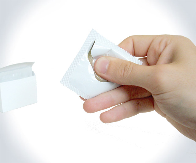 One-Handed Condom Wrapper