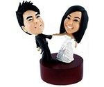 Your Face Dancing Wedding Cake Topper