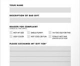 Gift Complaint Form