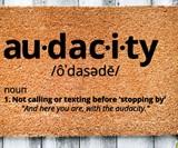 Audacity Doormat