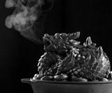 Cast Iron Dragon Wood Stove Steamer