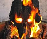 Demon Fireplace & Fire Pit Skull