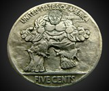 Hand-Carved Incredible Hulk Nickel