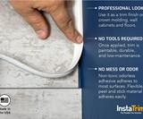 InstaTrim Self-Adhesive Caulk & Trim Strips