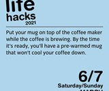Life Hacks 2021 Day-to-Day Calendar