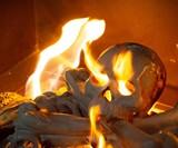 Skull & Bones Gas Fire Pit & Fireplace Logs