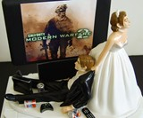 Video Game Junkie Wedding Cake Topper - Top View