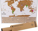 Where I've Been Scratch-Off Map