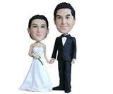 Your Face Bobblehead Wedding Cake Topper