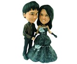 Your Face Gothic Wedding Cake Topper
