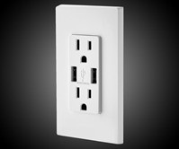 Power Outlet with Dual USB Ports