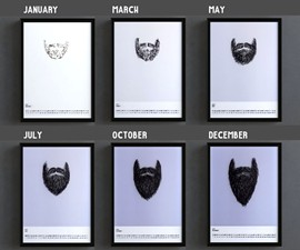 Bearded Year Transparent Overlay Calendar