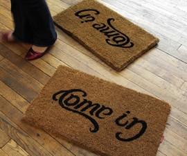 Come In/Go Away Doormat