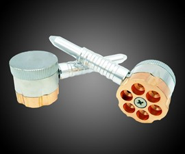 Six Shooter Smoking Pipe & Grinder