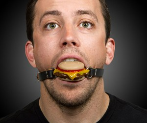 Silencing Slider - Cheeseburger Ball Gag