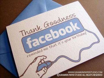 Facebook Reminder Birthday Card