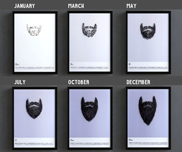 Bearded Year Transparent Overlay Calendar