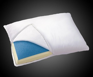 Cooling gel memory foam pillow dudeiwantthatcom for Dreamfinity cooling memory foam pillow