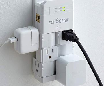 ECHOGEAR On-Wall Surge Protector