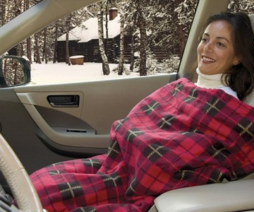 Electric Heated Fleece Travel Blanket