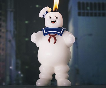 Stay Puft Marshmallow Man Candle