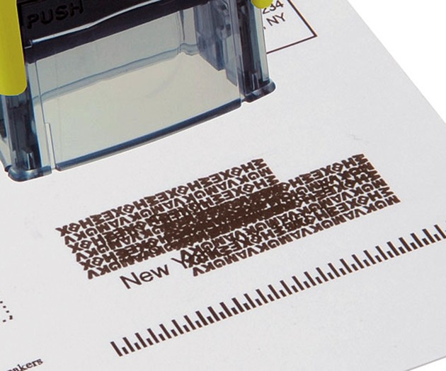 Identity Theft Protection Rubber Stamp