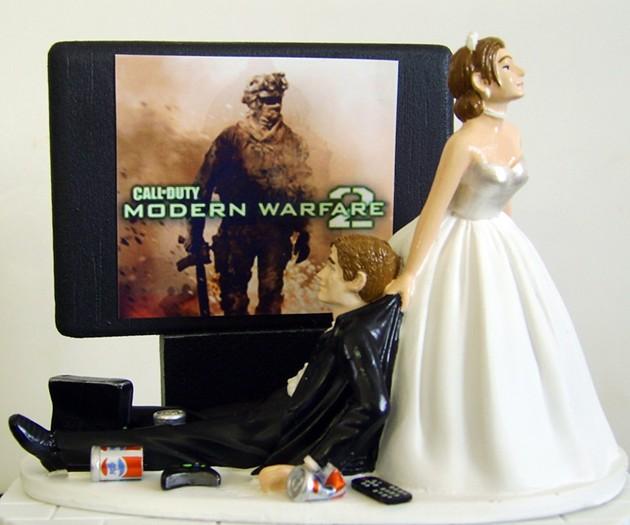 Video Game Junkie Wedding Cake Topper